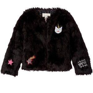 Jessica Simpson Mercury faux fur coat girls Sz L